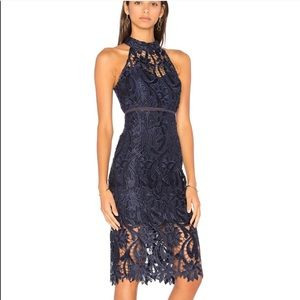 Bardot Isa Lace Halter Neck Dress
